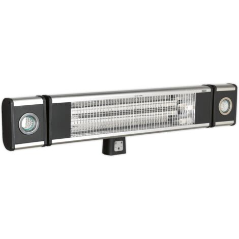 Sealey IWMH1809LR High Efficiency Carbon Fibre Infrared Wall Heater 1800W/230V with LED Lights