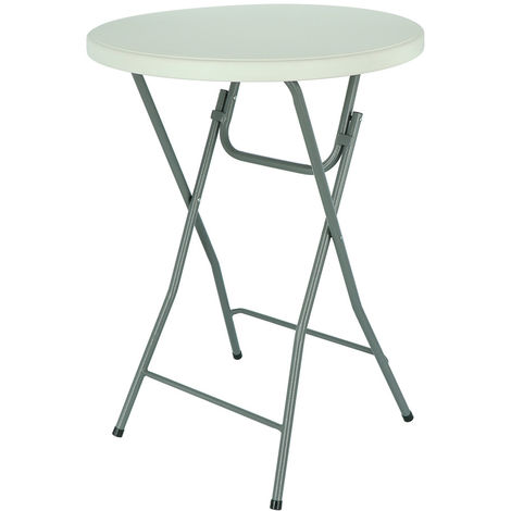 High Foldable Waterproof Bar Bistrot Table 80x80x110cm w/o Fabric Lining
