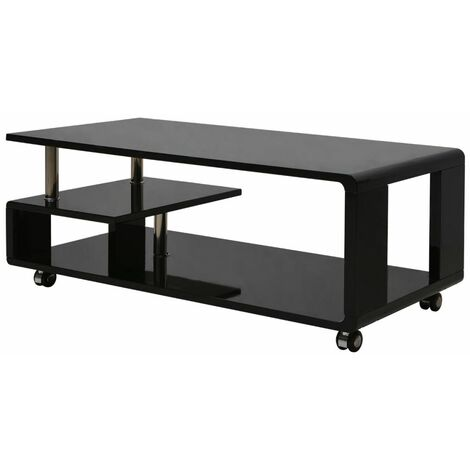 High Gloss Coffee Table Black