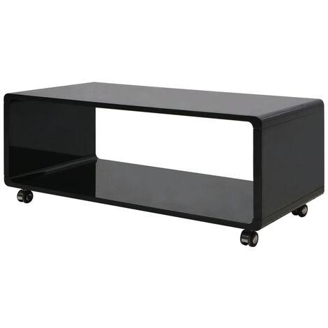 High Gloss Coffee Table Black - Black