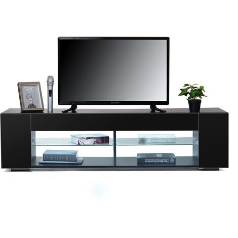High Gloss TV Stand Cabinet w/ LED Light