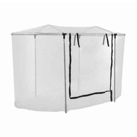 """main image of """"High Grow Top 160 Greenhouse Attachment 160x115x80cm Steel Pipe PVC"""""""