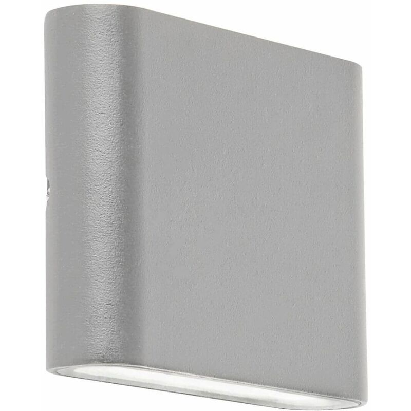 Image of 03-searchlight - High / low led outdoor wall light - gray - transparent diffuser