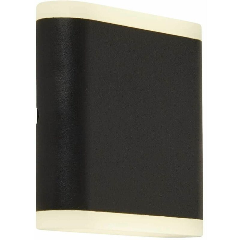 Image of 03-searchlight - High / low led outdoor wall light - matt black with frosted diffuser