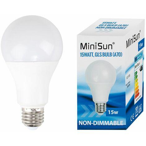 High Power 15W LED ES E27 GLS Energy Saving Long Life Bulb