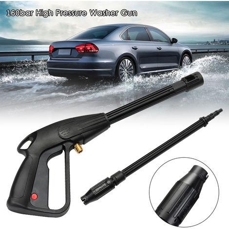 High Pressure Washer Gun High Power Washer Water Spray Gun with Long Wand 160bar Cleaning Tool