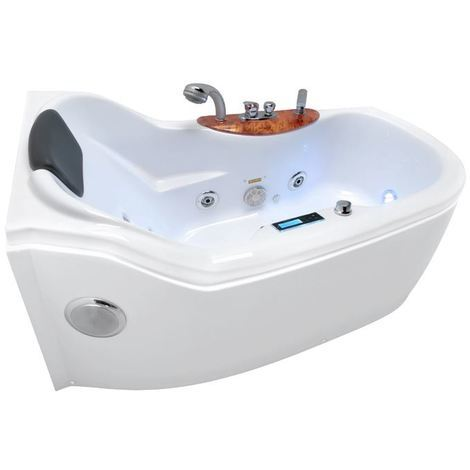 High Quality Bath With Hydromassage Kerra Bella Lux Left Version