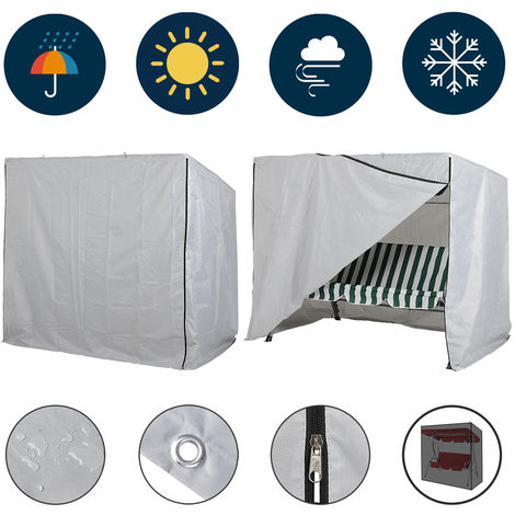 Kingsleeve cover for swinging hammock 185 x 117 x 170 cm weatherproof protective cover garden furniture tarpaulin
