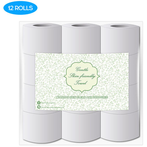 High Quality Log Household Rolls Thickened Roll Toilet Soft And Comfortable Paper Daily Necessities, 12rolls