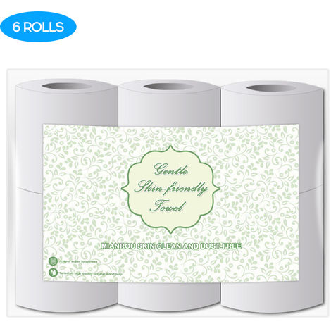 High Quality Log Household Rolls Thickened Roll Toilet Soft And Comfortable Paper Daily Necessities, 6rolls