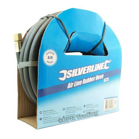 High Quality Reinforced Compressor Air Line Rubber Hose 8mm 5/16'' Bore - 10mtr