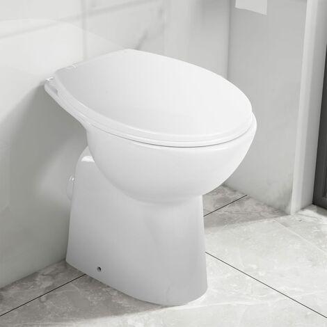 High Rimless Toilet Soft Close 7 cm Higher Ceramic White