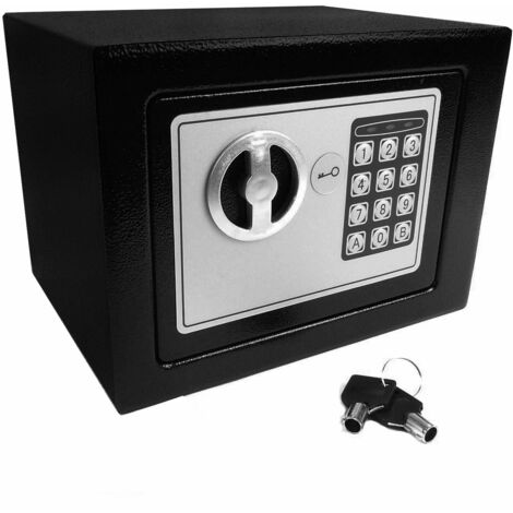 High Security Home Safe Safebox Secure Storage Box With Keypad And Key Lock