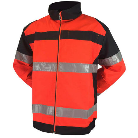 High visibility jacket MUZELLE DULAC fluopro - red fluo - Size 1