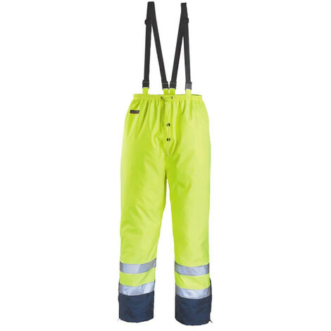 High visibility rain pants COVERGUARD Airport - Fluorescent yellow - XXL