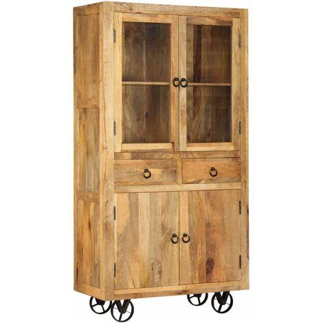 Highboard Solid Mango Wood 95x45x185 cm