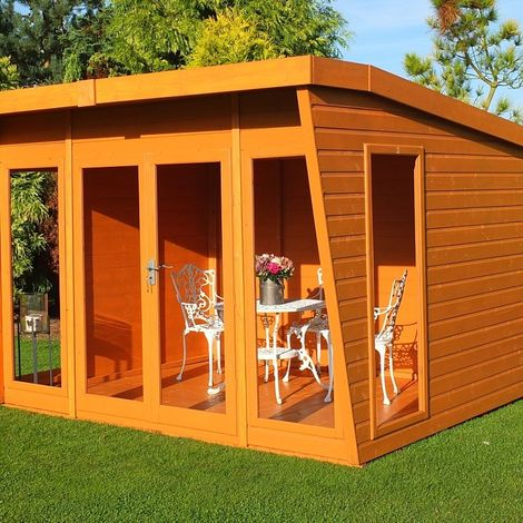 Highclere Shiplap Summerhouse Garden Sun Room Approx 10 x 8 Feet