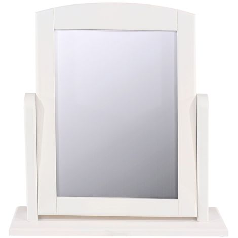 Highland Home AB Assembled White Finish Single Mirror