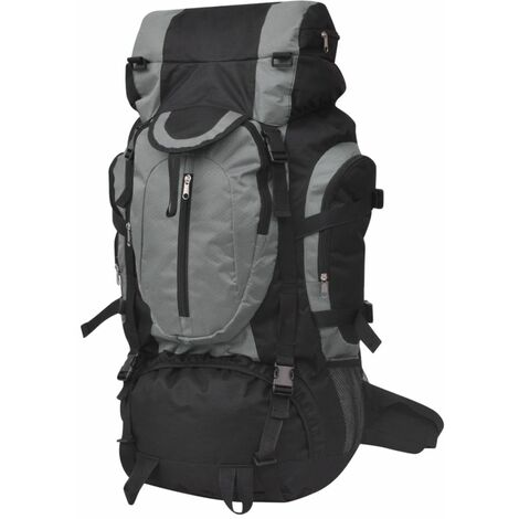 Hiking Backpack XXL 75 L Black and Grey