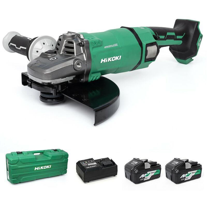 Image of Hikoki/hitachi Power Tools Uk - HiKOKI 230mm Angle Grinder - 36V G3623DA/JAZ - Kit 2 X Batteries - G3623DA/JAZ