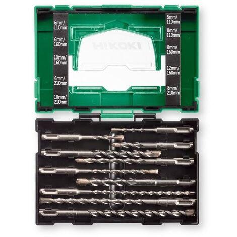 HiKOKI 40030030 Set de mèches SDS+ (Jeu de 10pcs)