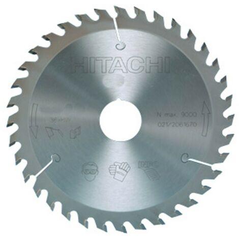 HIKOKI 752408 - disque de scie circulaire et ingler 160x2.6x1.6mm 20/16mm 48 dents pourle Bois