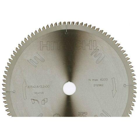 HIKOKI 752489 - scie circulaire disque et ingler 305x2.8x2.2mm axe 30 mm 96 dents pourl'aluminium