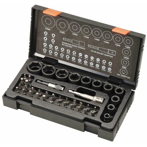 HiKOKI 752500 Impact Socket & Bit Set of 41 Metric 1/2in Drive
