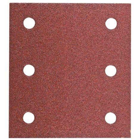 HIKOKI 753042 - Papel de lija para lijadoras orbitales 114x104 mm grano 60 con Velcro