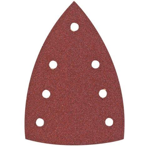 HIKOKI 753427 - Papel de lija para lijadoras orbitales tipo delta 100x150 mm grano 180 con Velcro