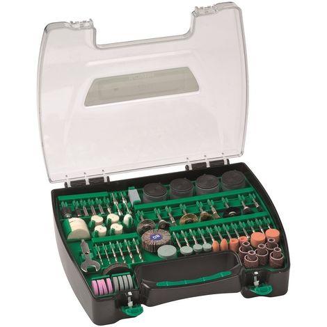 HIKOKI 753948 - Maletin de fresas y herramientas para mini-taladros rotativos 200 piezas