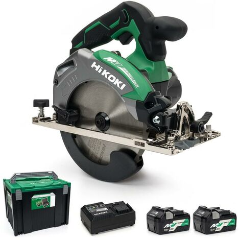 HiKOKI C3606DA/JRZ 36V Multi Volt Cordless 165mm Brushless Circular Saw 2 X 2.5Ah Batteries