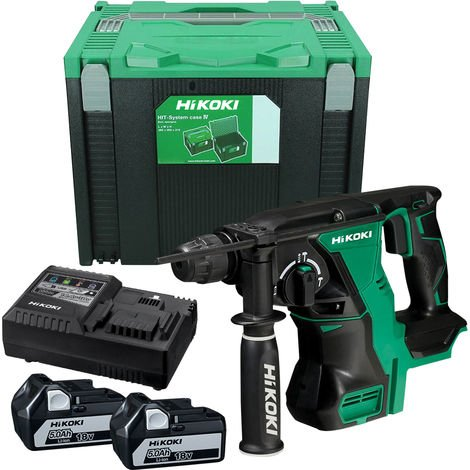 HiKOKI DH18DBL/JP 18V Brushless SDS Plus Hammer Drill Cordless Kit INC 2 X 5.0AH BATTS