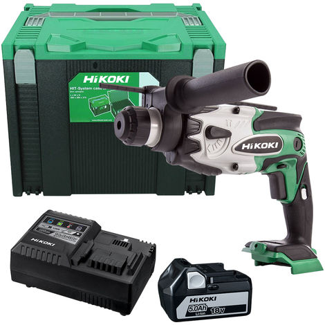 HiKOKI DH18DSL 18V Cordless SDS+ Hammer Drill with 1 x 5.0Ah Battery & Charger in Case