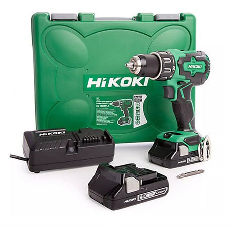 HiKOKI DV18DBFL2/JM 18V Brushless Combi Drill With 2 x 3.0Ah Batteries Charger In Case