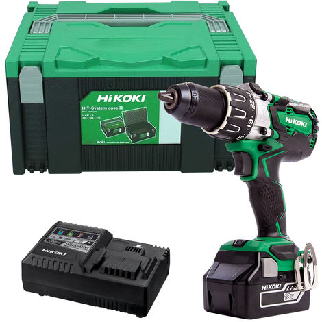 HiKOKI DV18DBXL 18V Li-ion Brushless Combi Drill with 1 x 5.0Ah Battery & Charger in Case:18V
