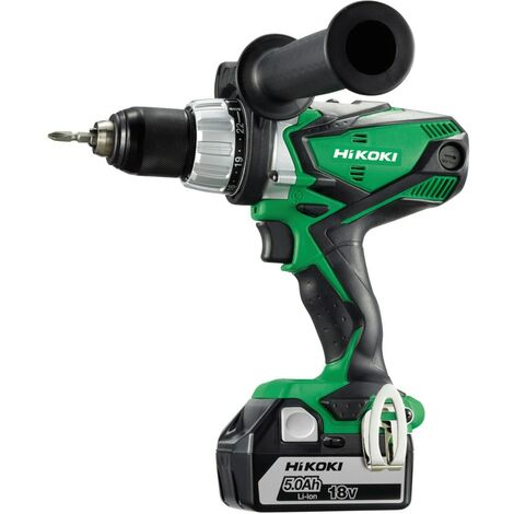 Hikoki DV18DSDL/JJZ 18V Combi drill with 2x 5.0 Ah Batteries and Charger in Car