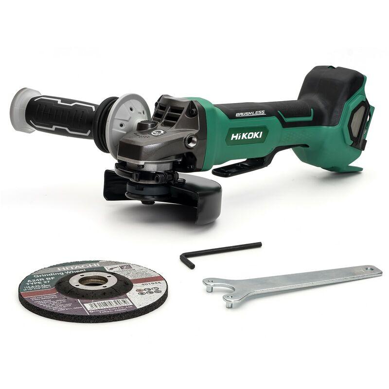 Image of Hikoki/hitachi Power Tools Uk - HiKOKI G3613DB/W2Z 125mm MultiVolt Cordless Disc Grinder, With Brake - Bare Unit (Paddle Switch) - G3613DB/W2Z