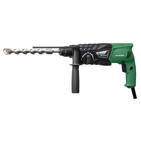 HiKOKI Marteau de perçage et burinage 24mm, 730W, 2,7 Joule - DH24PHWSZ