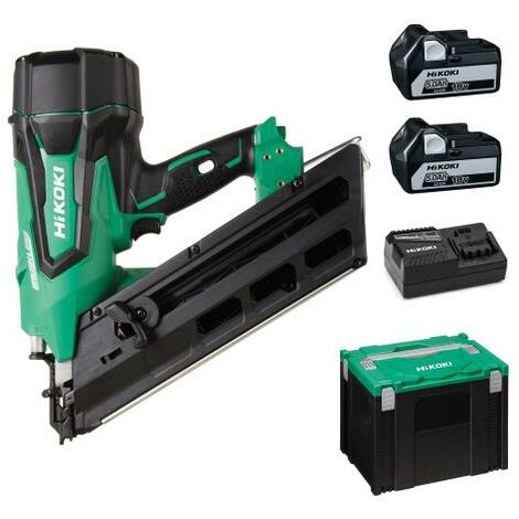 HIKOKI NR1890DCJPZ FIRST FIX BRUSHLESS NAILER with 2 x 18V 5Ah LI-ION BATTERIES NR18