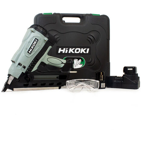 Hikoki NR90GC2 7.2V Cordless Gas First Fix Nail Gun with 2x 1.4Ah Batteries