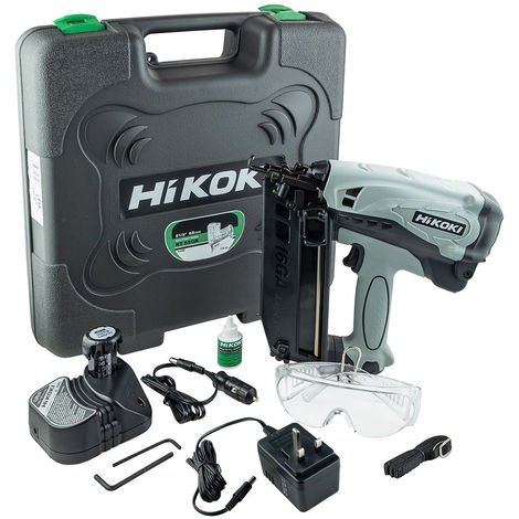 HiKOKI NT65GB Angled Gas Nail Gun with 2 x 1.5Ah Batteries & Charger in Case