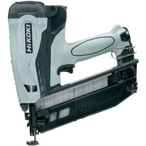 "main image of ""HiKOKI NT65GBJ9Z Fix Angled Gas Finish Nailer & x 1.5Ah Batteries"""