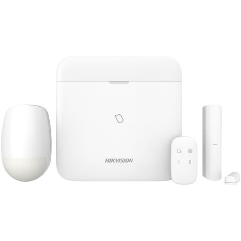 Hikvision - DS-PWA96-Kit-WE - Kit alarme sans fil Wifi/3G/4G avec Centrale AX PRO 96 zones - Blanc