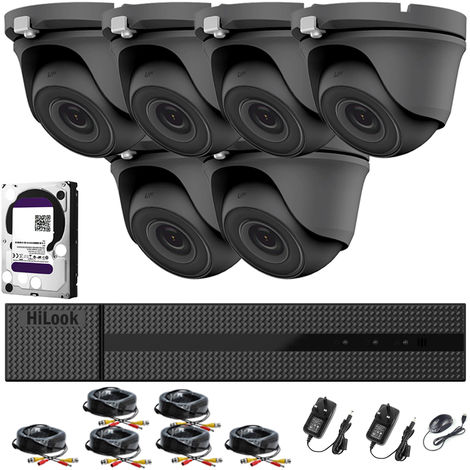 HIKVISION HILOOK 8CH CCTV KIT DVR 1080P & 6X 2.0MP FULL HD 1080P WHITE DOME CCTV CAMERAS IR 20M NIGHT VISION REMOTE VIEW EASY P2P SECURITY CAMERA SYSTEM- different size HDD available