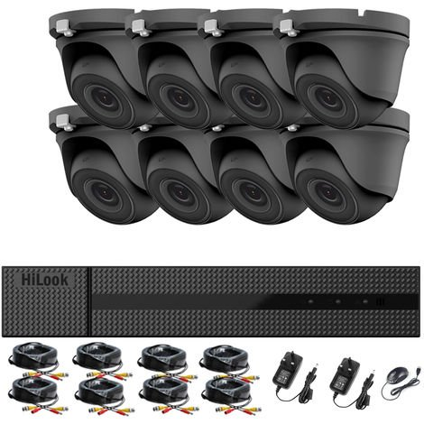 HIKVISION HILOOK 8CH CCTV KIT DVR 1080P & 8X 2.0MP FULL HD 1080P WHITE DOME CCTV CAMERAS IR 20M NIGHT VISION REMOTE VIEW EASY P2P SECURITY CAMERA SYSTEM- different size HDD available