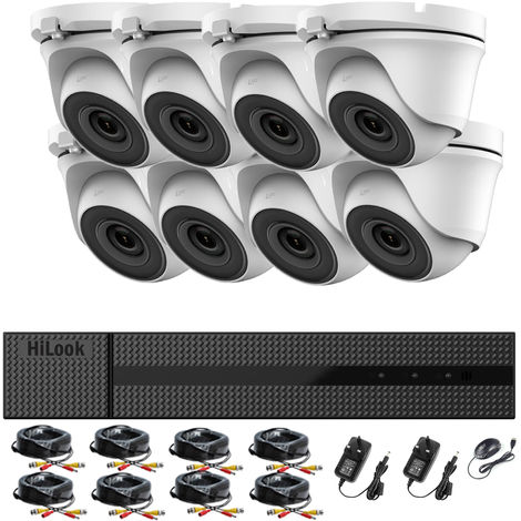 """main image of """"HIKVISION HILOOK 8CH CCTV KIT DVR 1080P & 8X 2.0MP FULL HD 1080P WHITE DOME CCTV CAMERAS IR 20M NIGHT VISION REMOTE VIEW EASY P2P SECURITY CAMERA SYSTEM- different size HDD available"""""""