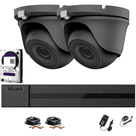 HIKVISION HILOOK SMART HOME 1080P CCTV GREY CAMERA SYSTEM, 4CH FULL HD DVR WITH 2X 2.0MP HD INDOOR & OUTDOOR CAMERAS, METAL HOSUING ,1920x1080, EASY MOBILE & PC ACCESS, 24/7 CONTINUOUS & MOTION RECORDING (2TB HDD PRE-INSTALLED)