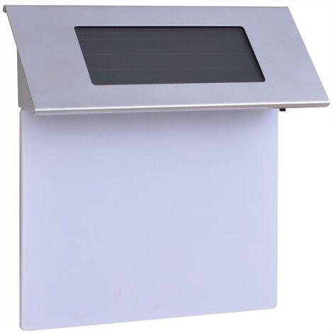 Hilbert LED Solar Outdoor Wall Light by Brayden Studio - White