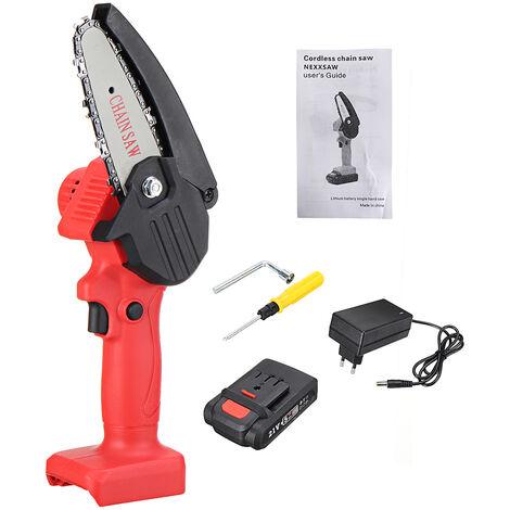 HILDA 21V Scie électrique Mini scie à chaine portative sans fil avec 1 Batterie sans boite